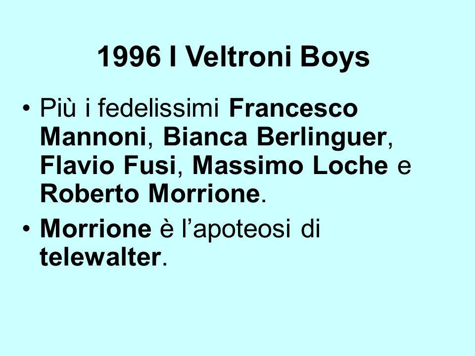 1996 I Veltroni Boys Più i fedelissimi Francesco Mannoni, Bianca Berlinguer, Flavio Fusi, Massimo Loche e Roberto Morrione.