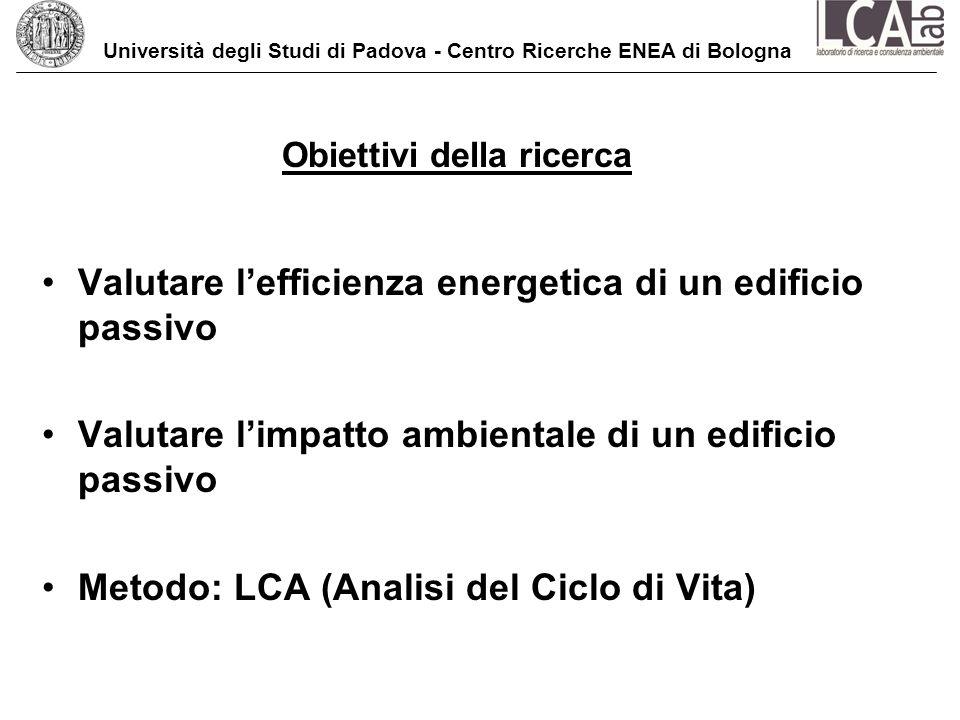 Università degli Studi di Padova - Centro Ricerche ENEA di Bologna