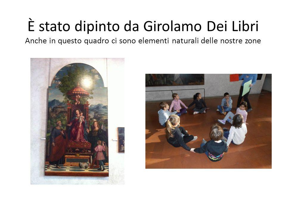 È stato dipinto da Girolamo Dei Libri Anche in questo quadro ci sono elementi naturali delle nostre zone