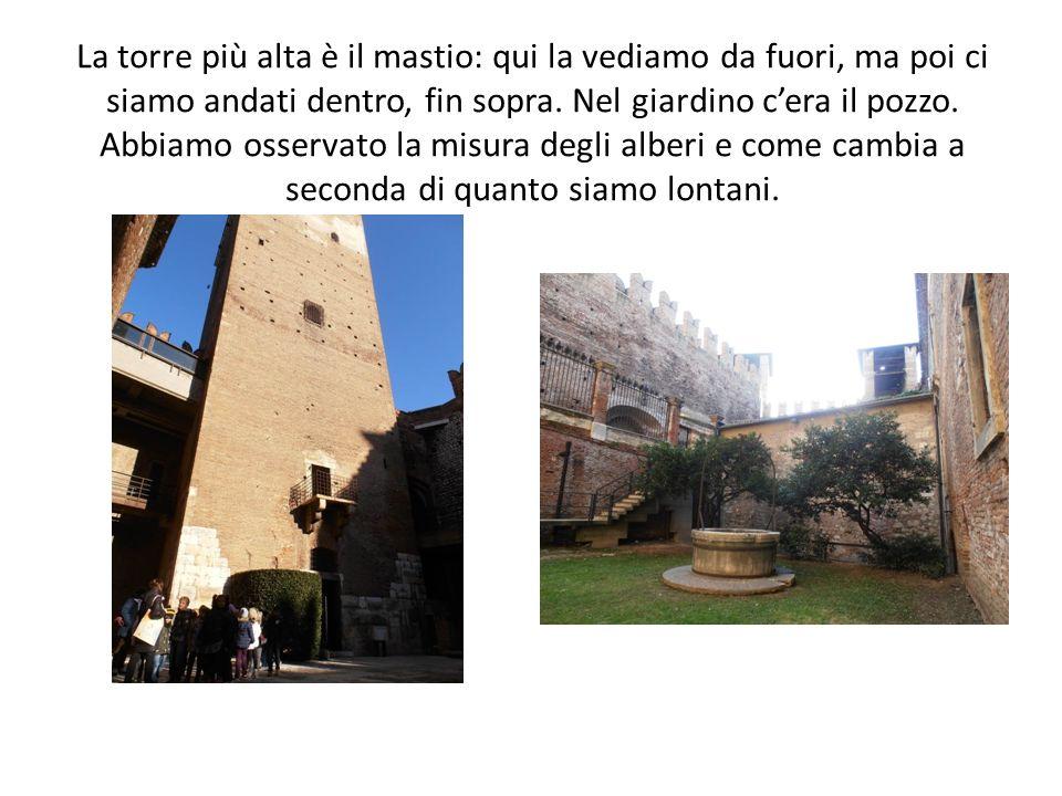 La torre più alta è il mastio: qui la vediamo da fuori, ma poi ci siamo andati dentro, fin sopra.