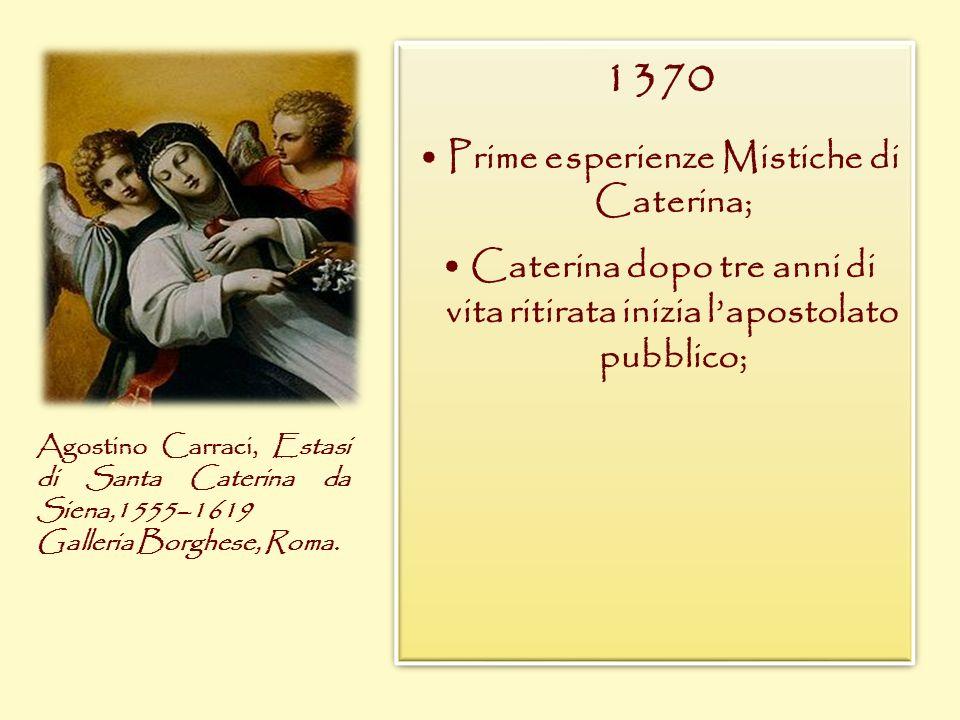 • Prime esperienze Mistiche di Caterina;