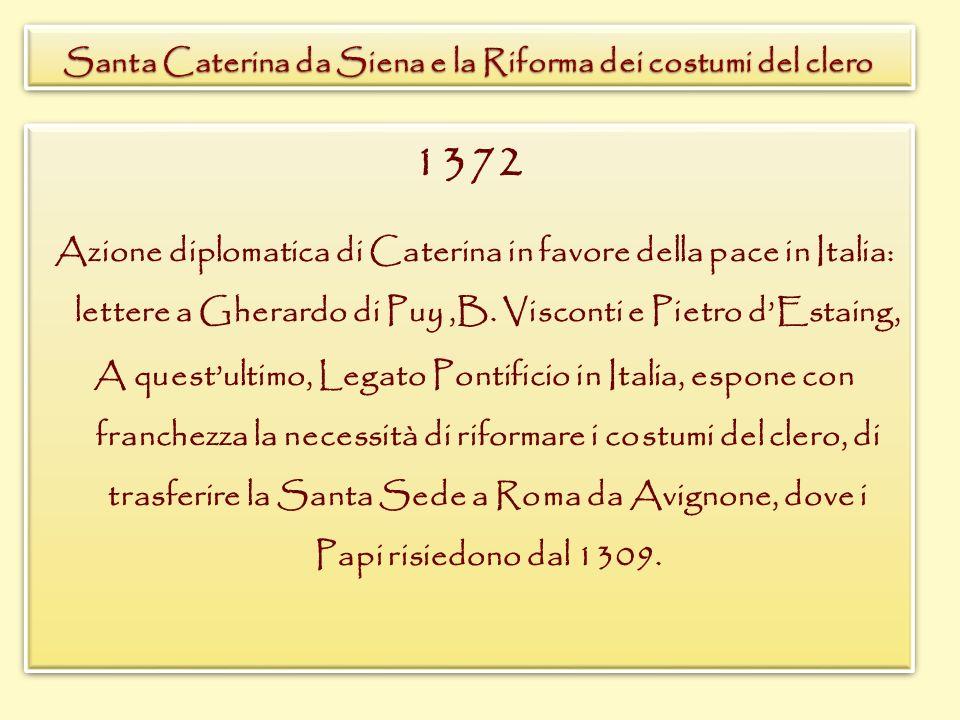 Santa Caterina da Siena e la Riforma dei costumi del clero