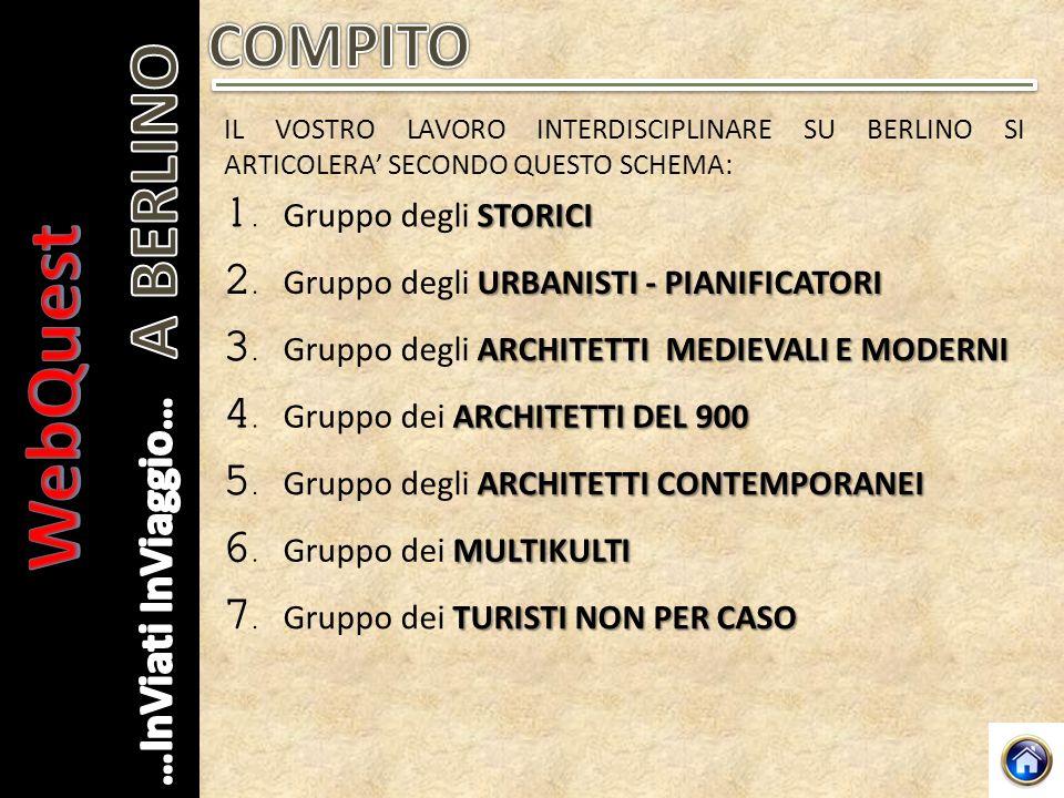 WebQuest A BERLINO COMPITO 1. Gruppo degli STORICI