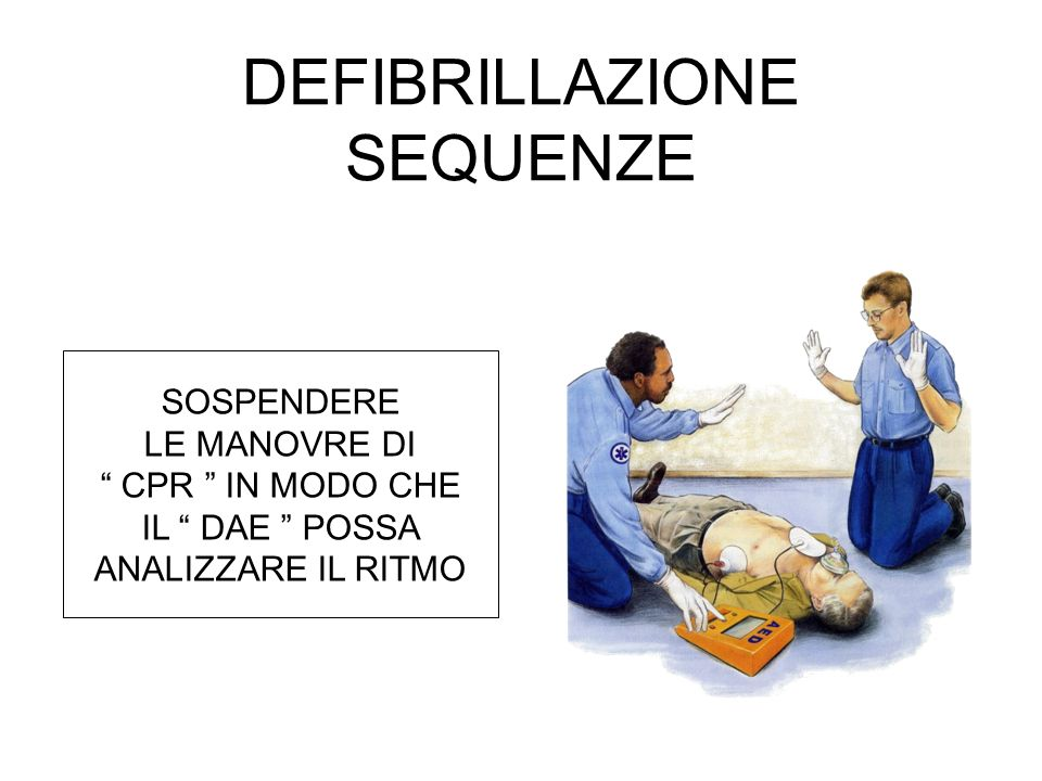 DEFIBRILLAZIONE SEQUENZE