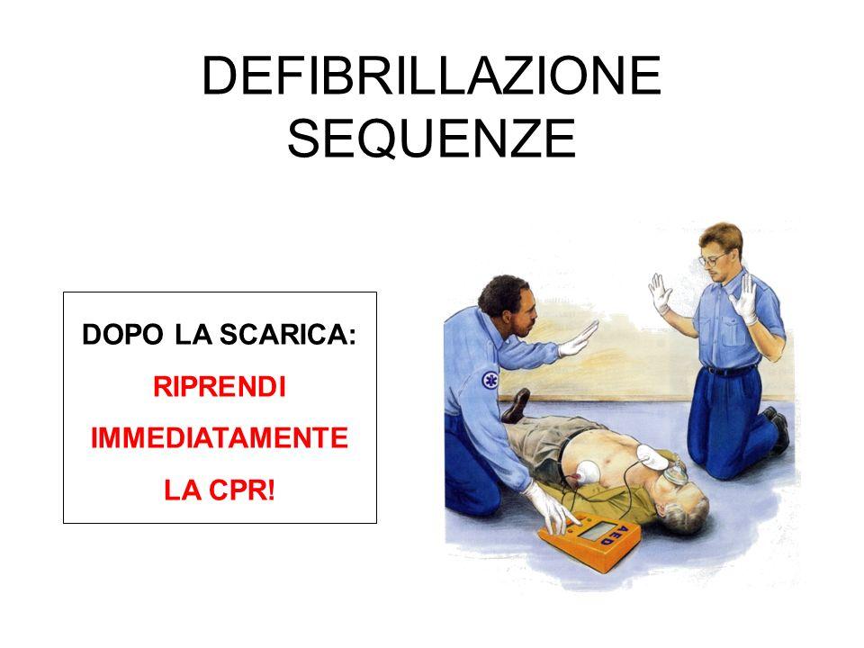 DOPO LA SCARICA: RIPRENDI IMMEDIATAMENTE LA CPR!