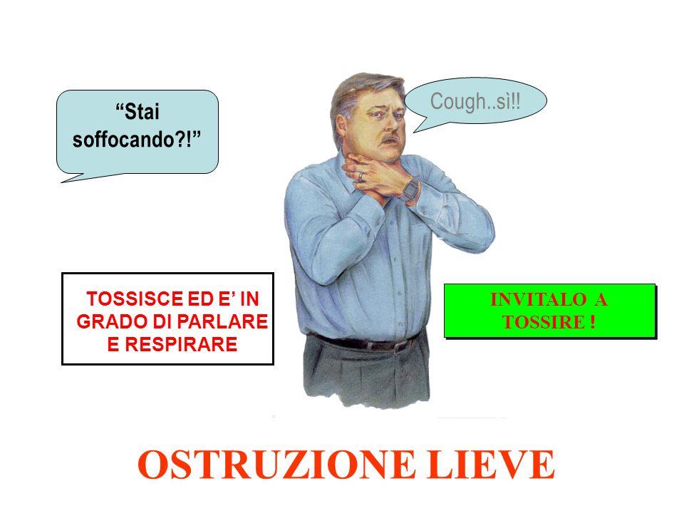 TOSSISCE ED E' IN GRADO DI PARLARE E RESPIRARE