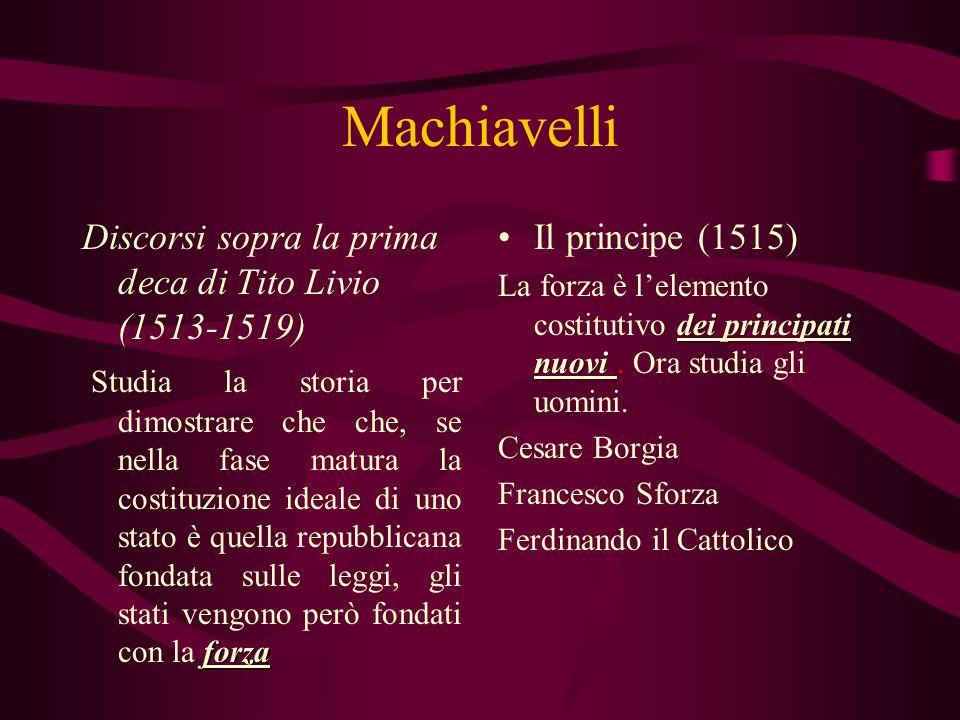 Machiavelli Discorsi sopra la prima deca di Tito Livio (1513-1519)