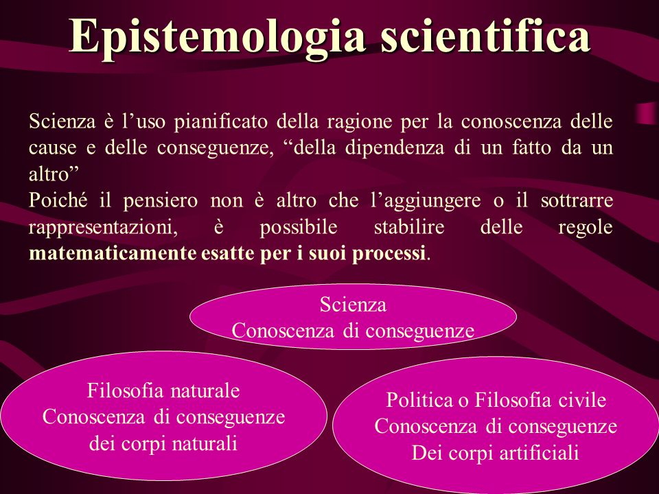 Epistemologia scientifica