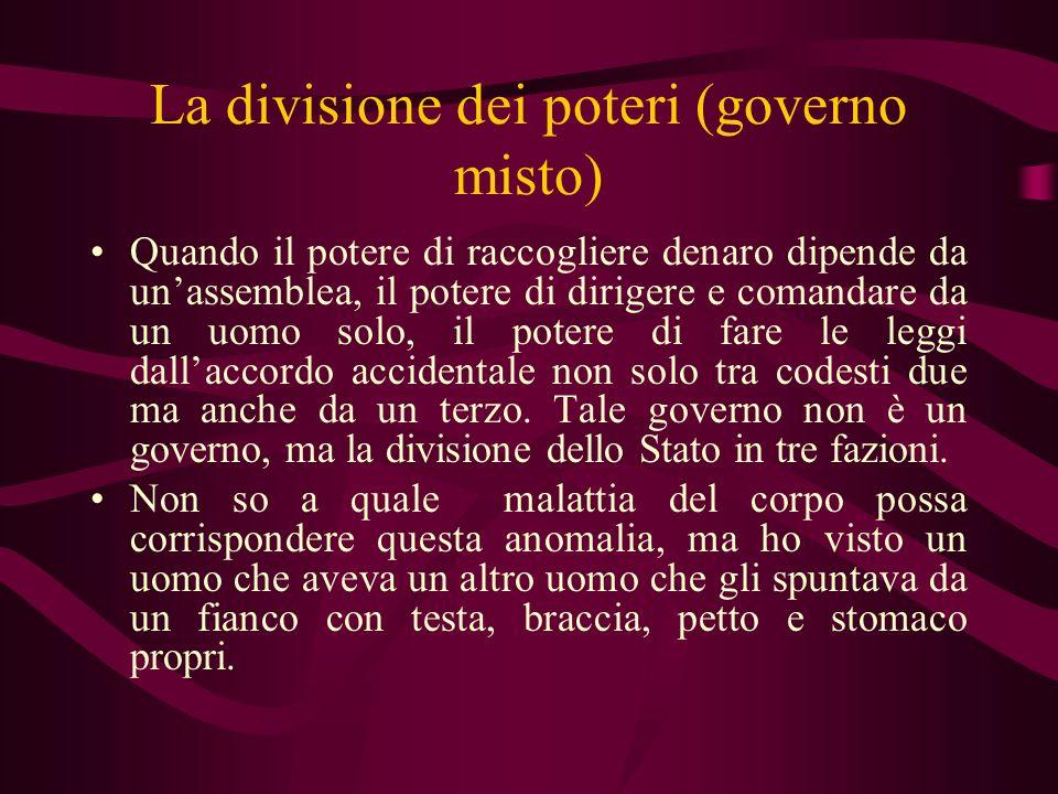 La divisione dei poteri (governo misto)