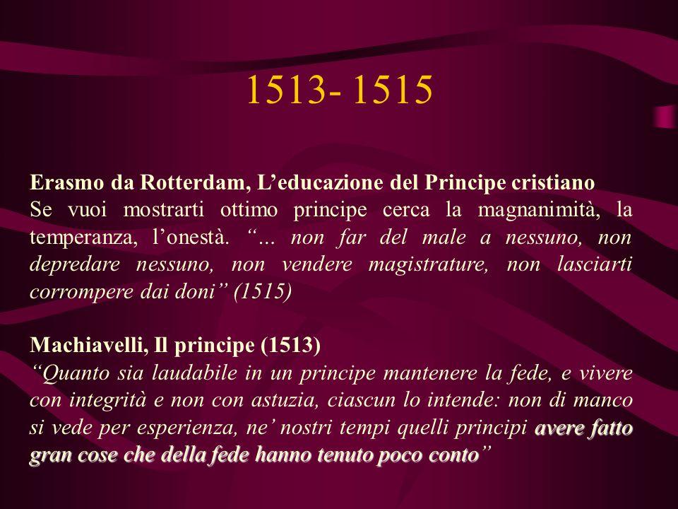 1513- 1515 Erasmo da Rotterdam, L'educazione del Principe cristiano