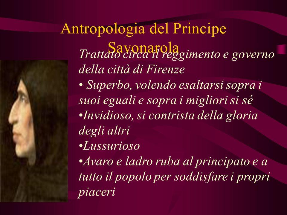 Antropologia del Principe Savonarola