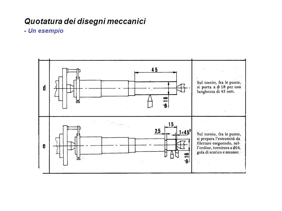 Quotatura dei disegni meccanici - Un esempio