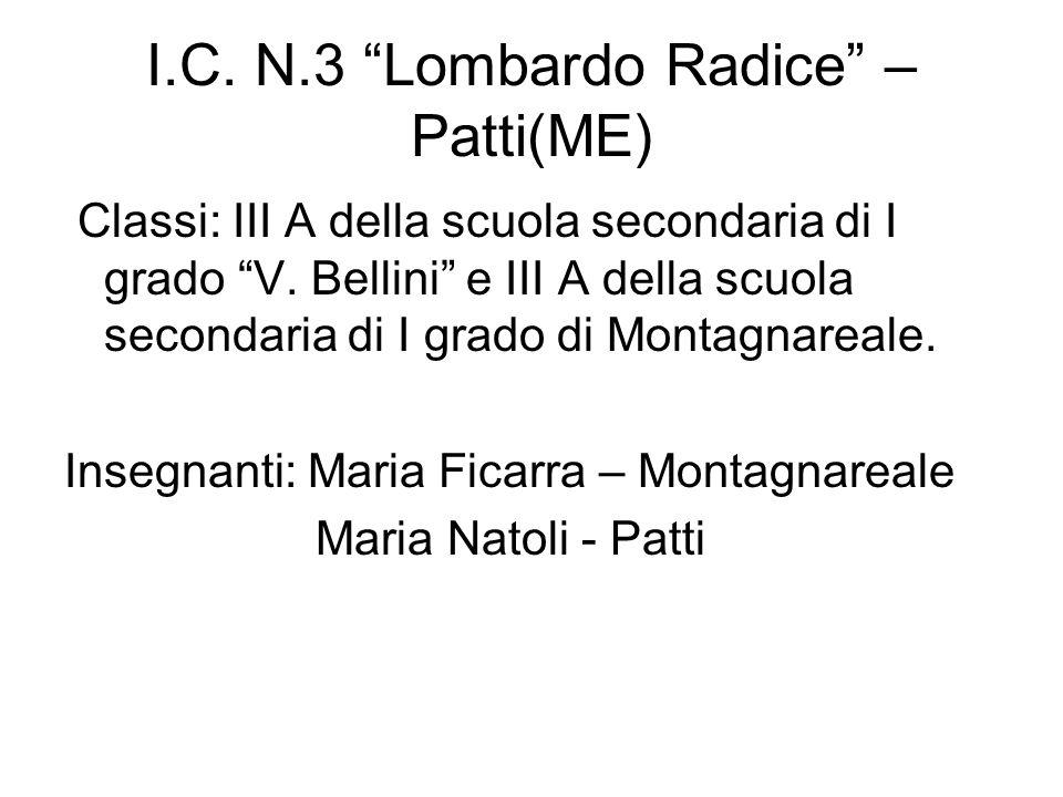 I.C. N.3 Lombardo Radice – Patti(ME)