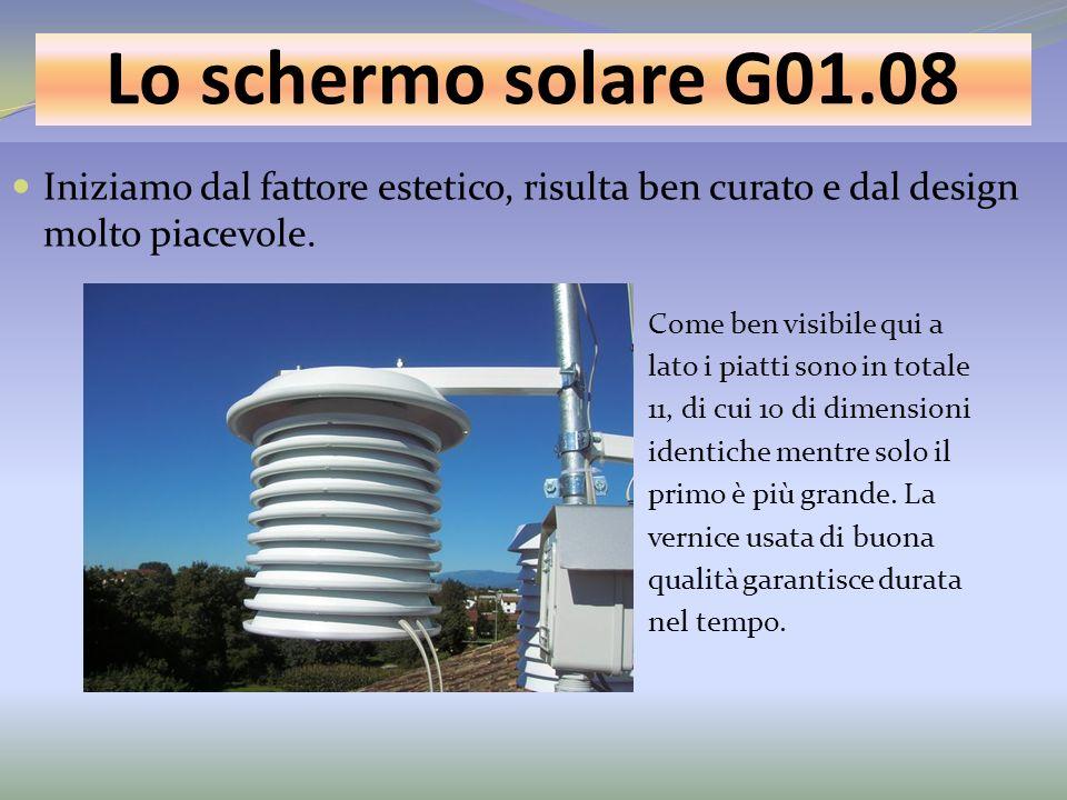 Lo schermo solare G01.08 Iniziamo dal fattore estetico, risulta ben curato e dal design molto piacevole.