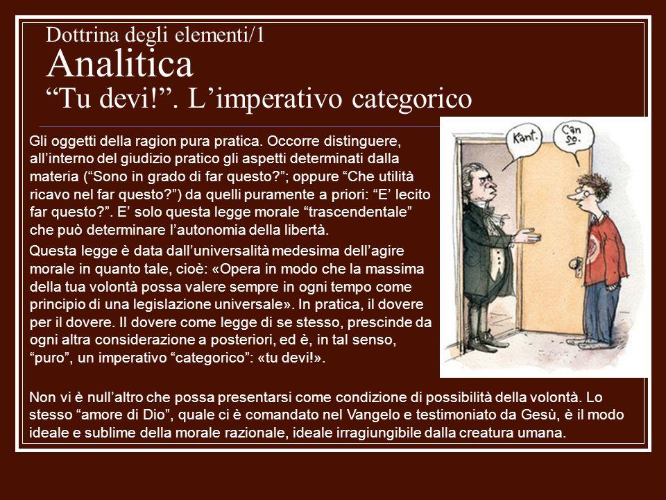 Dottrina degli elementi/1 Analitica Tu devi.