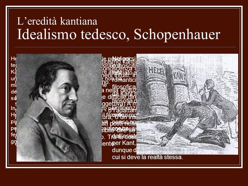 L'eredità kantiana Idealismo tedesco, Schopenhauer