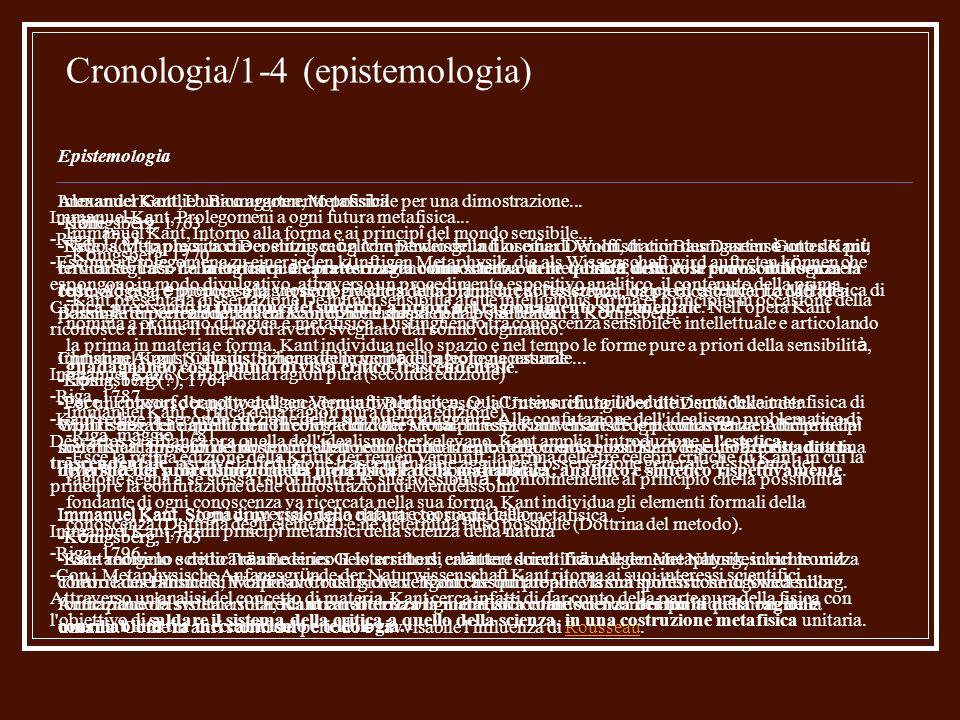 Cronologia/1-4 (epistemologia)