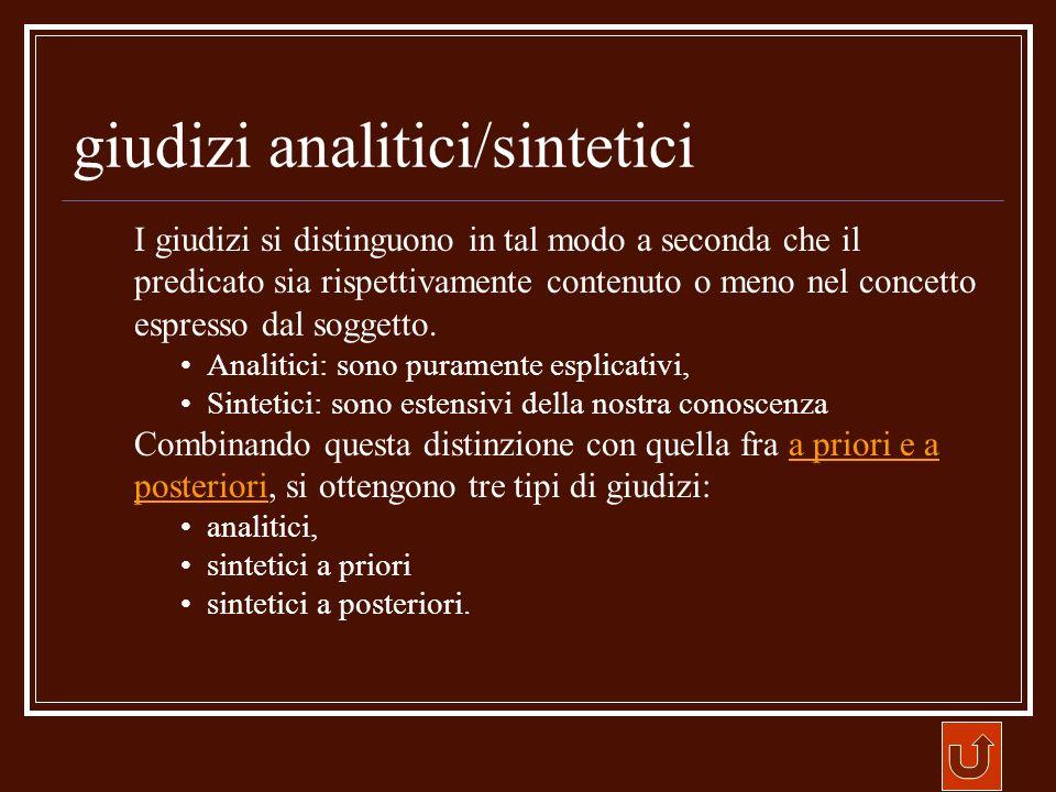 giudizi analitici/sintetici