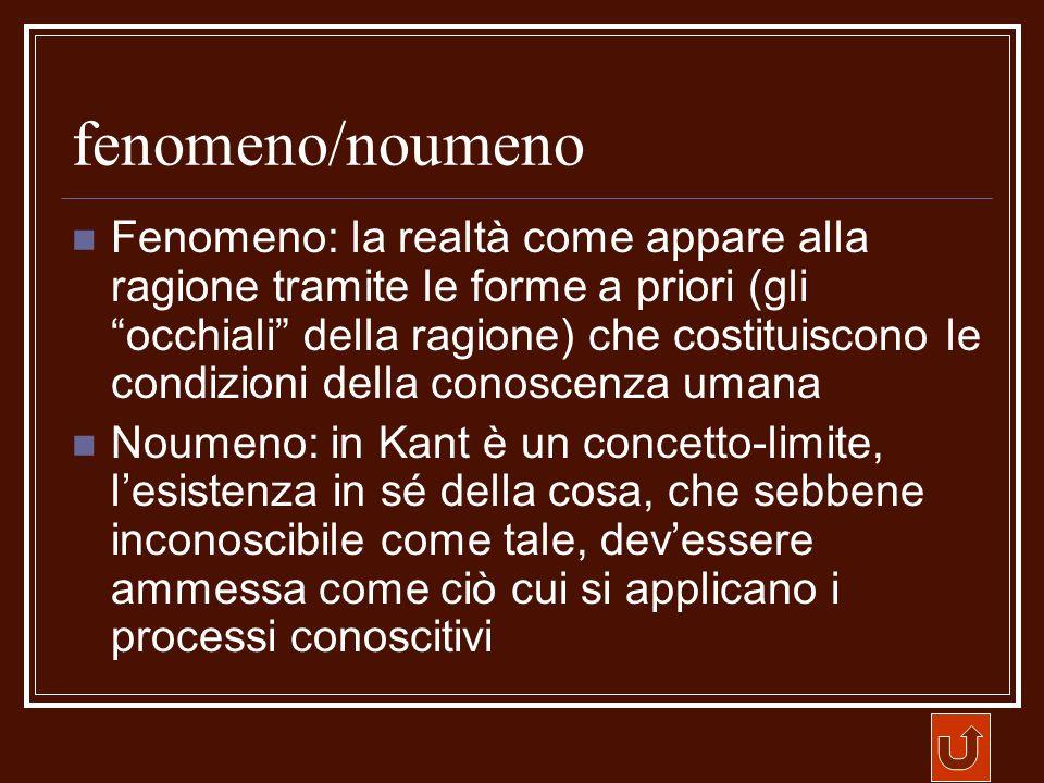 fenomeno/noumeno