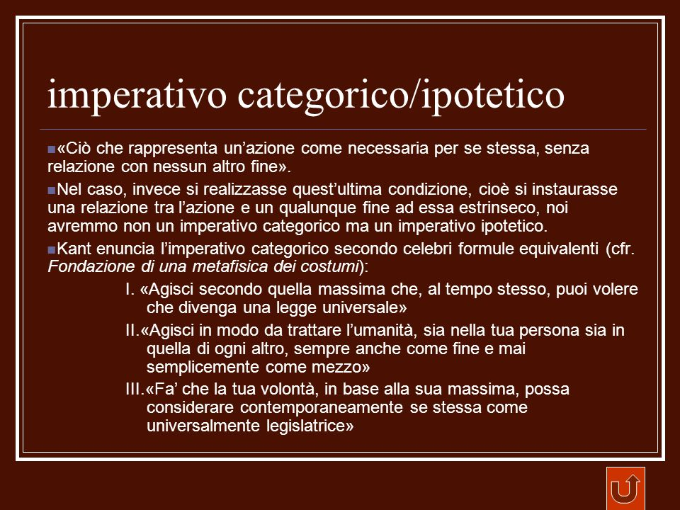 imperativo categorico/ipotetico