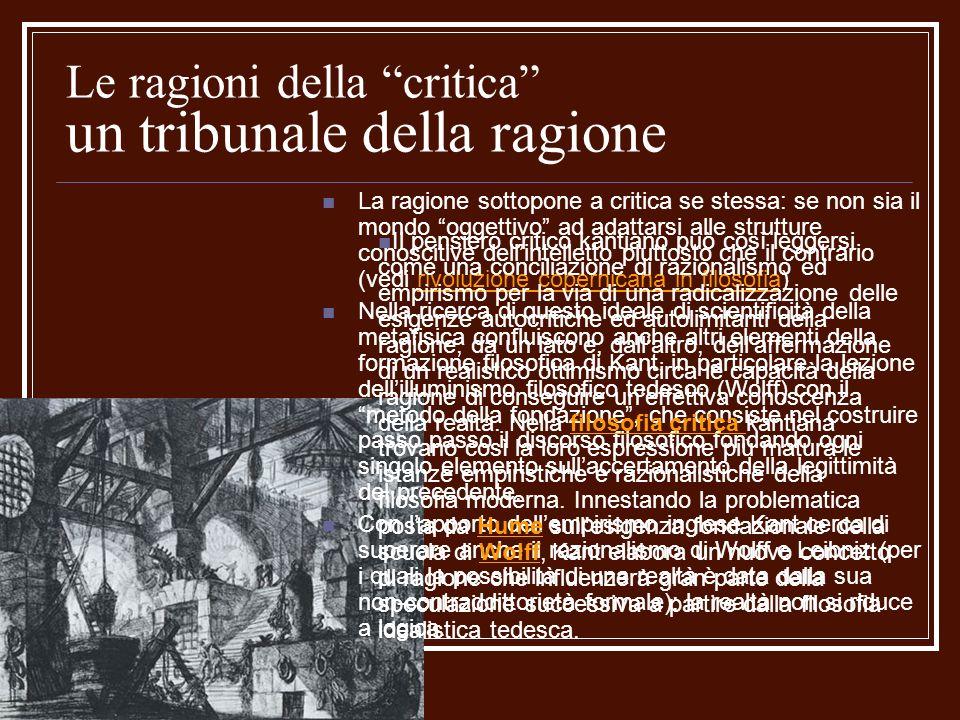 Le ragioni della critica un tribunale della ragione