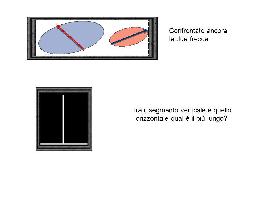 Tra il segmento verticale e quello orizzontale qual è il più lungo