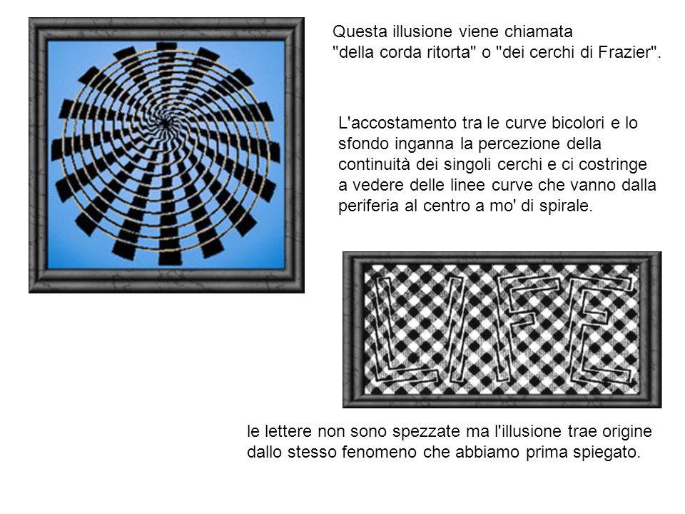 Questa illusione viene chiamata