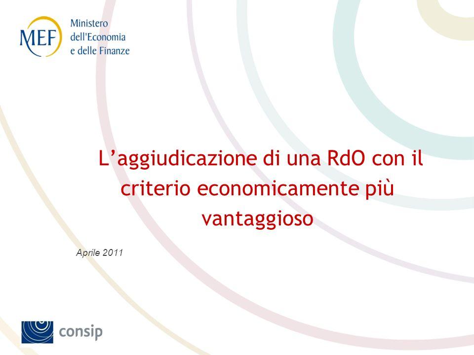 L'aggiudicazione di una RdO con il criterio economicamente più vantaggioso