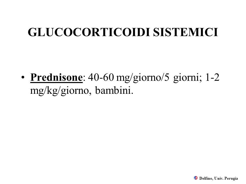 GLUCOCORTICOIDI SISTEMICI