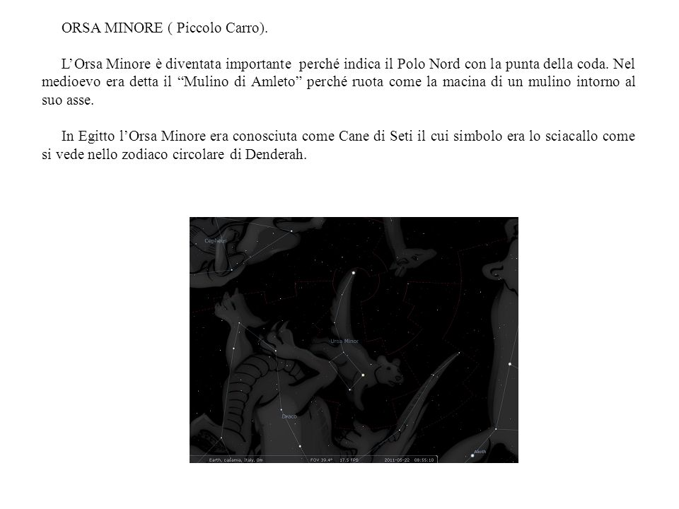 ORSA MINORE ( Piccolo Carro).