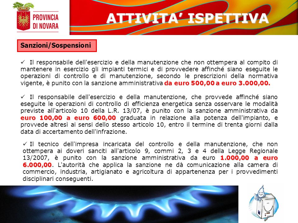 ATTIVITA' ISPETTIVA Sanzioni/Sospensioni
