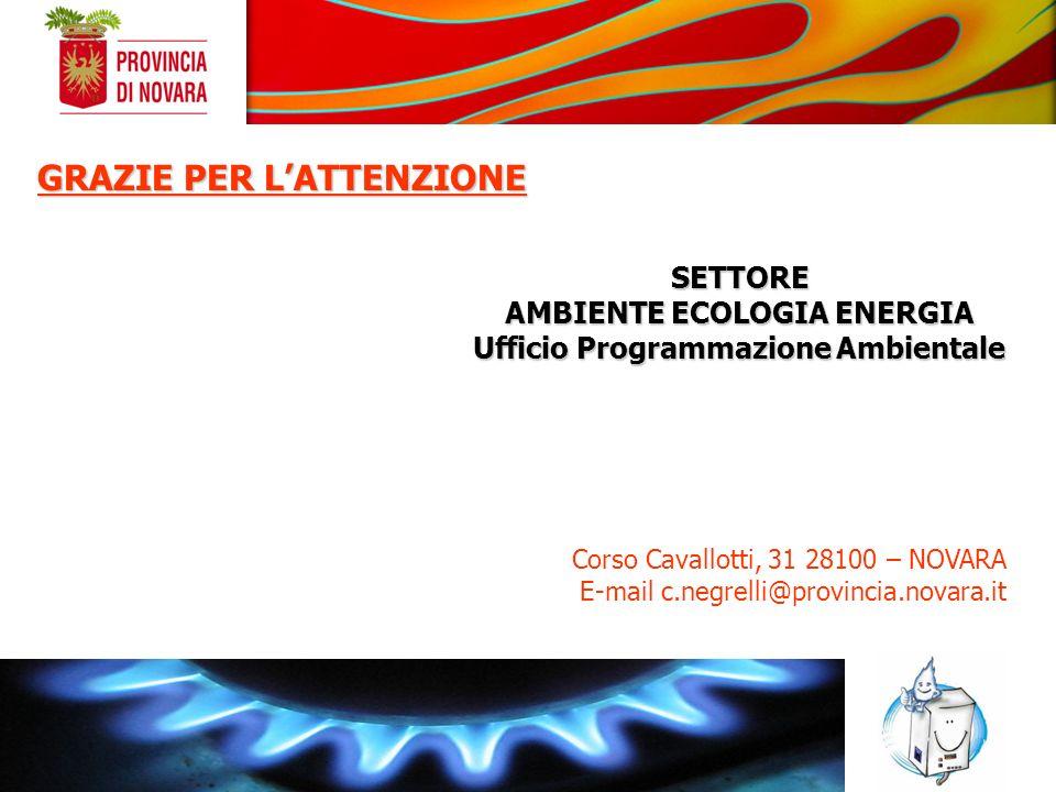 AMBIENTE ECOLOGIA ENERGIA Ufficio Programmazione Ambientale