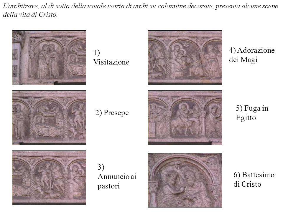 4) Adorazione dei Magi 1) Visitazione 5) Fuga in Egitto 2) Presepe