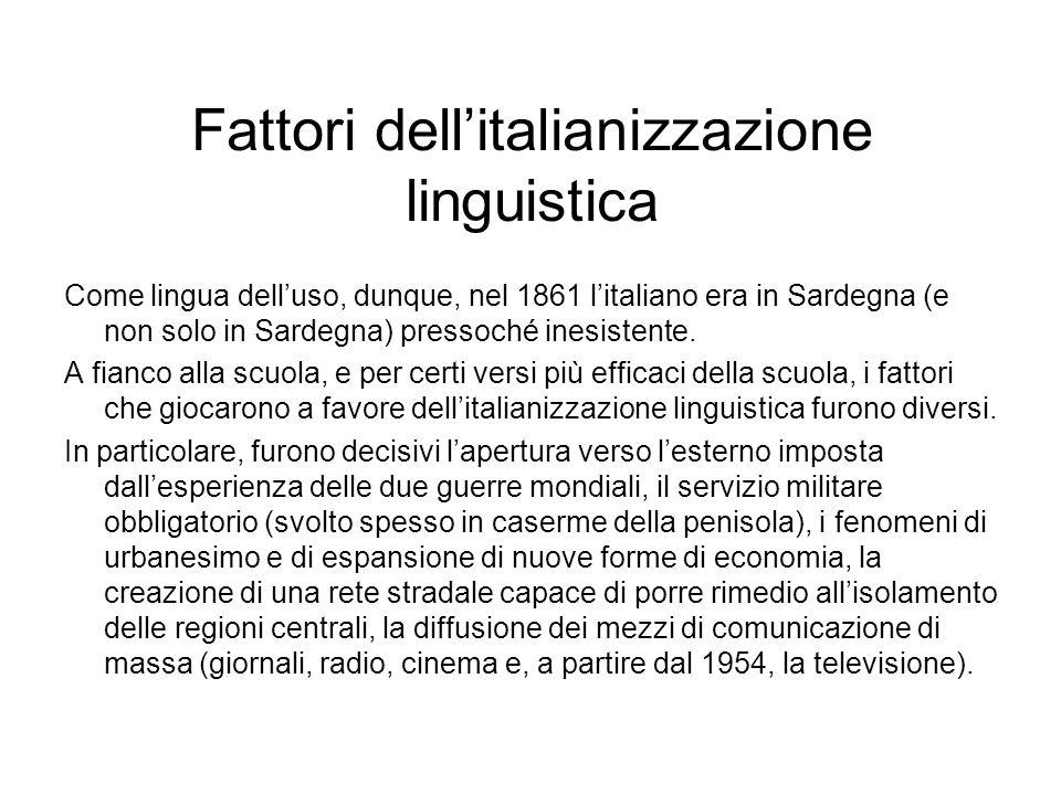 Fattori dell'italianizzazione linguistica