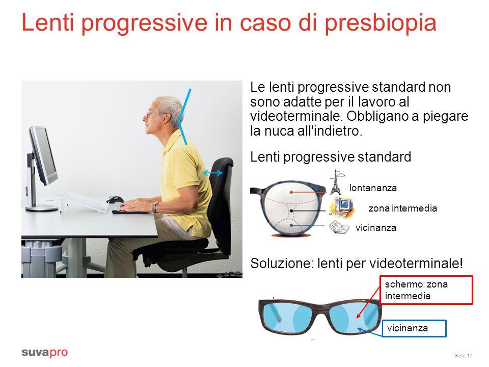 Lenti progressive in caso di presbiopia