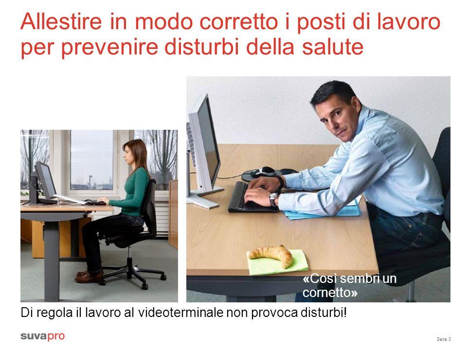 Allestire in modo corretto i posti di lavoro per prevenire disturbi della salute
