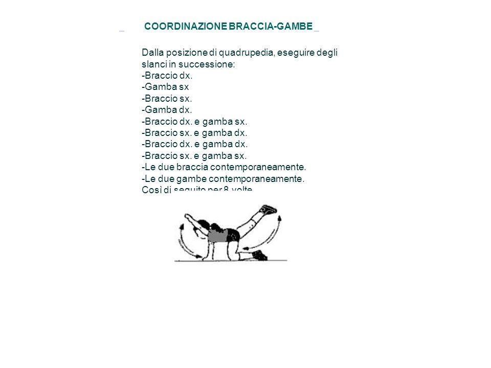COORDINAZIONE BRACCIA-GAMBE
