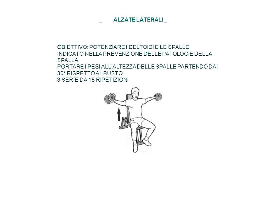 ALZATE LATERALI