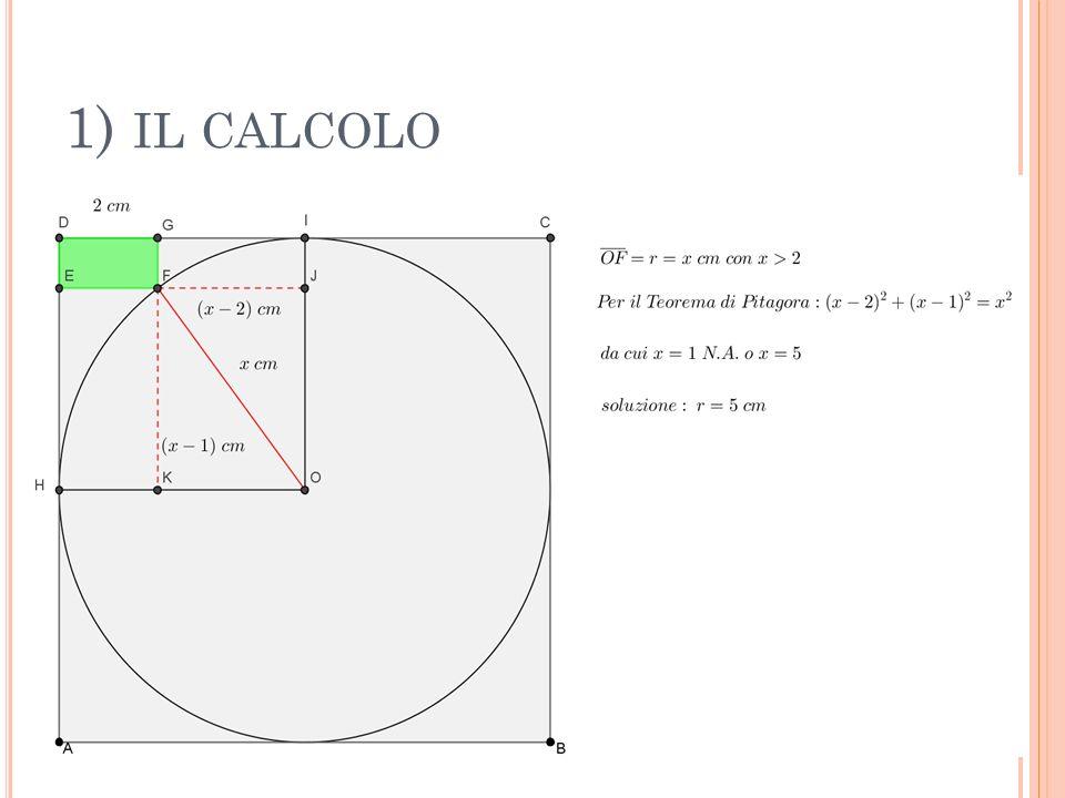 1) il calcolo