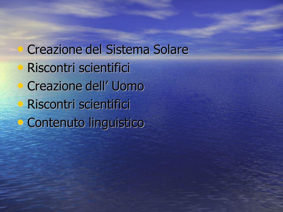 Creazione del Sistema Solare