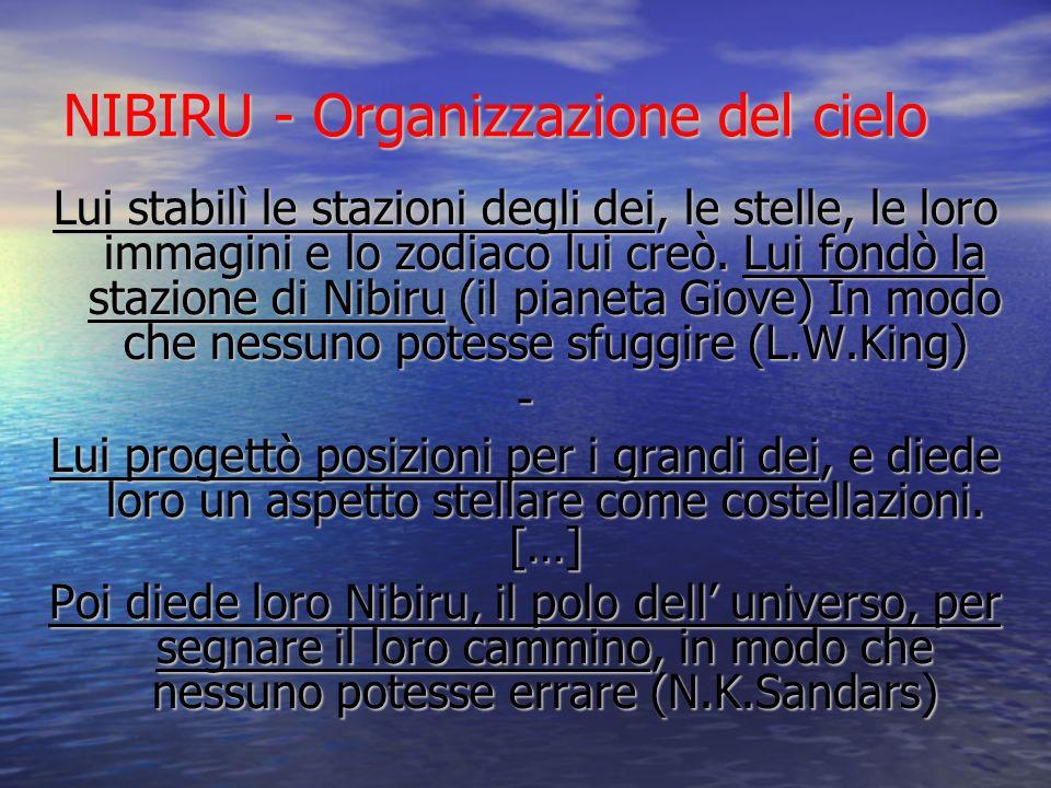 NIBIRU - Organizzazione del cielo