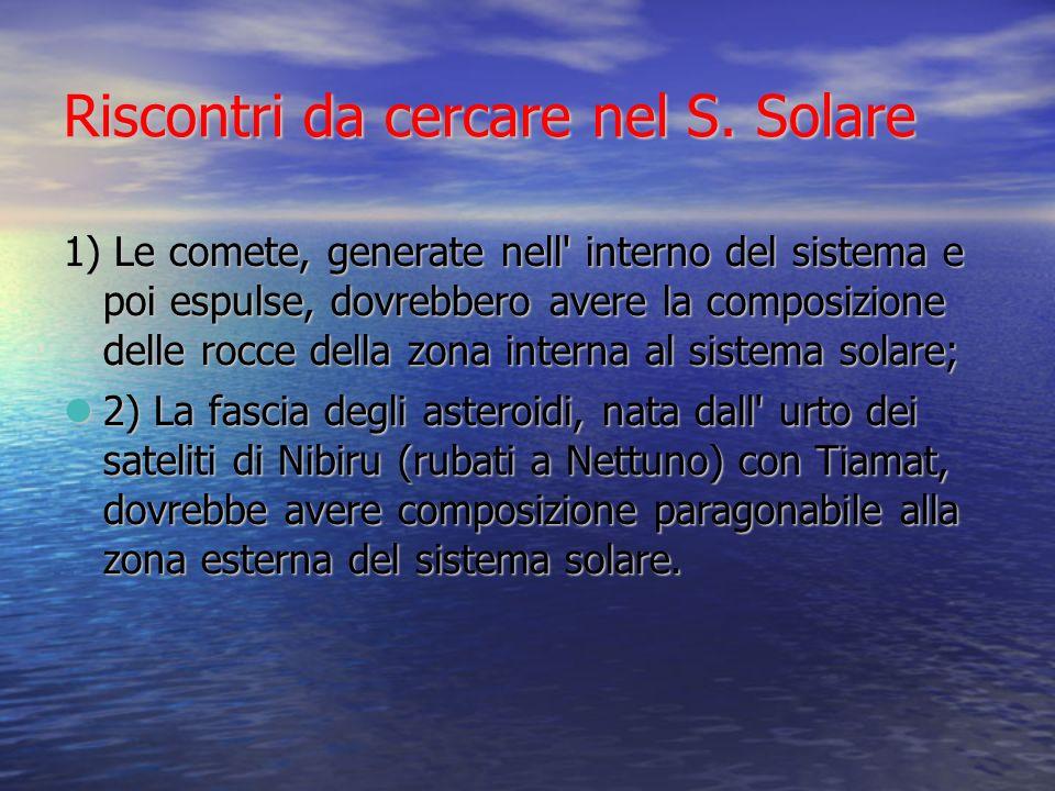Riscontri da cercare nel S. Solare