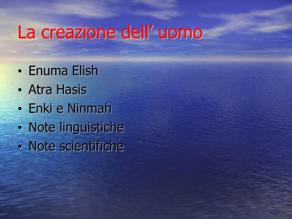 La creazione dell' uomo