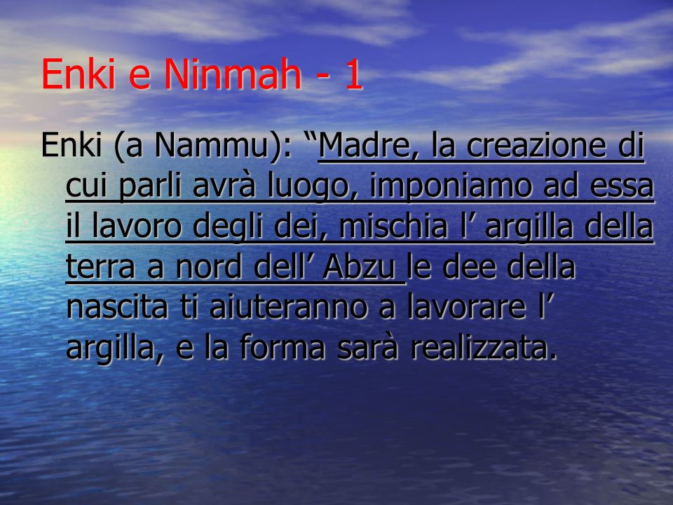 Enki e Ninmah - 1