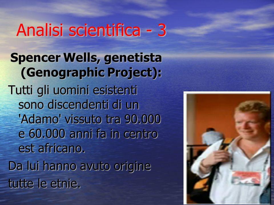 Spencer Wells, genetista (Genographic Project):