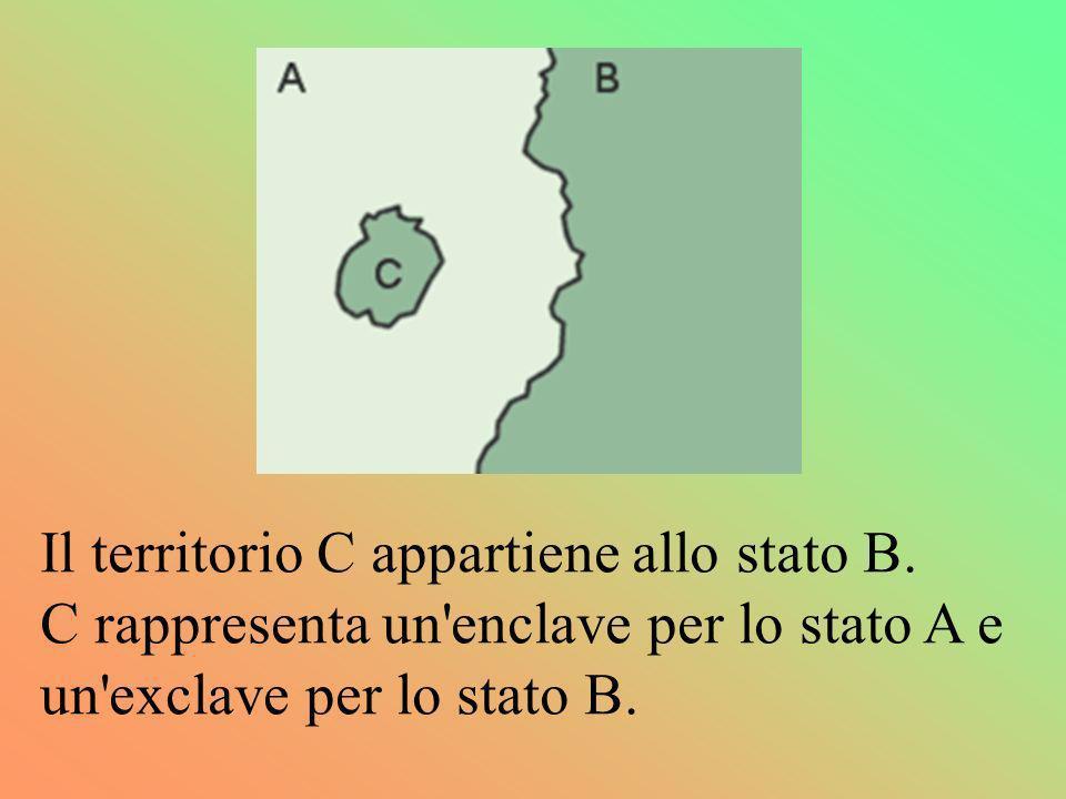 Il territorio C appartiene allo stato B.