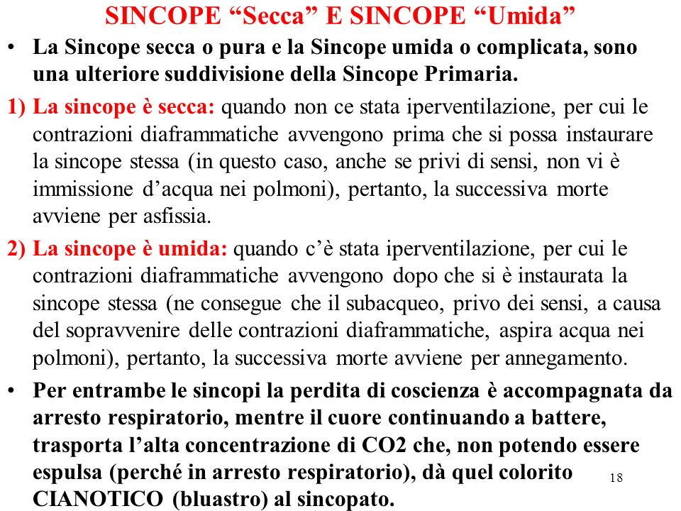 SINCOPE Secca E SINCOPE Umida