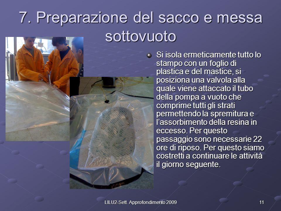 7. Preparazione del sacco e messa sottovuoto