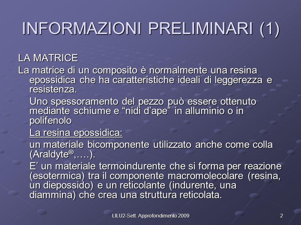 INFORMAZIONI PRELIMINARI (1)