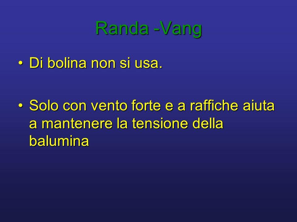 Randa -Vang Di bolina non si usa.